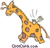 Vector Clip Art graphic  of a giraffe