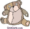 teddy bear, stuffed animal Vector Clipart image