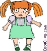 Vector Clip Art picture  of a doll