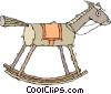 rocking horse, wooden horse Vector Clipart picture