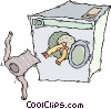 laundry, washing machine, wash Vector Clip Art image