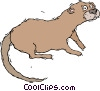Vector Clipart illustration  of a weasel
