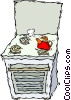 stove, oven, kettle Vector Clipart picture