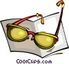 Vector Clipart picture  of a reading glasses