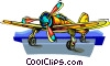 plane, airplane, aircraft Vector Clipart image