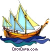 tall ship, sailing ship Vector Clipart illustration