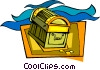 treasure chest, pirates, gold Vector Clip Art picture