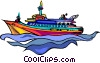 boat, sail Vector Clipart picture