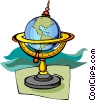 Vector Clipart graphic  of a global