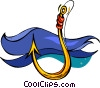 Vector Clip Art graphic  of a hook