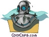 scuba gear, diving gear Vector Clipart graphic