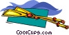 Vector Clip Art graphic  of a oars
