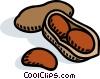 Vector Clip Art image  of a peanuts