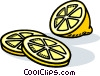 Vector Clipart graphic  of a Lemon slices