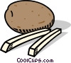 Vector Clipart picture  of a potatoes