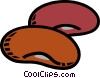 kidney beans Vector Clipart graphic