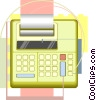 office equipment, adding machine Vector Clipart image