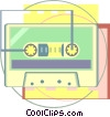 tape cassette Vector Clipart picture