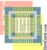 Vector Clip Art graphic  of a Computer chip