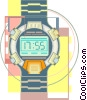 Vector Clipart graphic  of a wrist watch