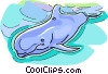 Vector Clipart graphic  of a whale