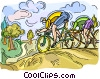Vector Clip Art picture  of a Bicycle race