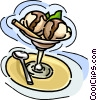 ice cream, with chocolate sauce Vector Clipart picture
