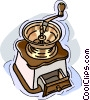 Vector Clipart graphic  of a coffee grinder