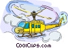 Vector Clipart picture  of a helicopter