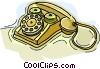 telephone, rotary Vector Clipart image