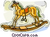 Vector Clipart graphic  of a rocking horse