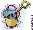 pail and shovel Vector Clipart picture