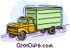 5 ton truck Vector Clip Art graphic