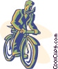bike, bicycle, bike riding Vector Clipart picture