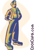 construction worker Vector Clip Art graphic