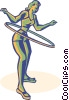 Vector Clipart graphic  of a hula-hoop