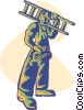 Vector Clip Art image  of a carpenter