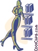 library, research Vector Clipart illustration