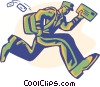 Vector Clip Art graphic  of a postman