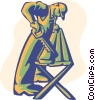 Vector Clipart illustration  of a construction worker