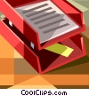 In & out bin Vector Clipart image