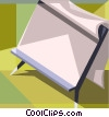 pad of paper on easel Vector Clipart picture