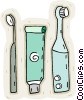 Vector Clip Art image  of a Dental hygiene