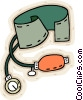 Vector Clip Art picture  of a blood pressure gauge