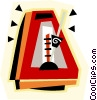 Vector Clip Art graphic  of a metronome