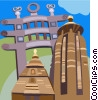 Vector Clipart picture  of a The North Gate of the Sanchi Stupa