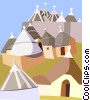 Italy, Alberobello Vector Clipart graphic