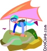 hang glider Vector Clipart image