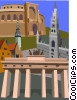 Brandenburg Gate, Berlin, Munich, Leipzig Vector Clip Art picture