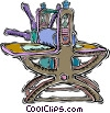 Vector Clipart illustration  of a printing press